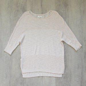 Lou & Grey Light Blush Pink 3/4 Length Sweater Med